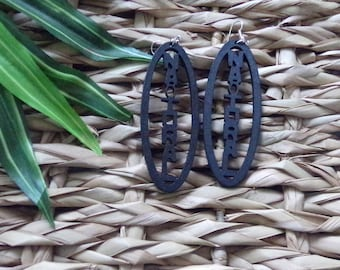 Natural Ankh Wooden Earrings | Ankh Earrings | Natural Earrings | African Earrings | Wood Earrings | African Symbol Earrings