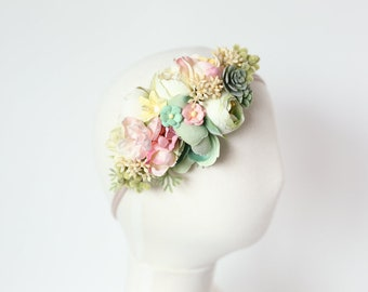 baby headband, flower crown headband, baby flower headband, flower headband for girls, flower crown baby, newborn headband, toddler headband