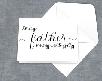 To my mother or to my father on my wedding day handlettered calligraphy card
