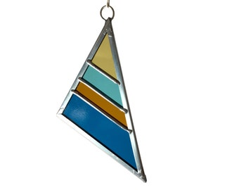 Stained Glass Triangle - Fall Large