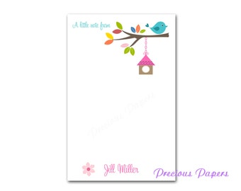 Personalized bird house notepads bird house notepads Personalized Teacher note pads Personalized teacher gift