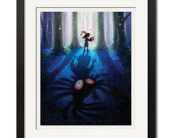 The Legend of Zelda Majora's Mask Poster Print 0664