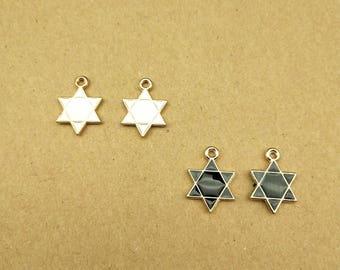 10PCS, Enamel Charm, Star Charm, Enamel Star, Enamel Jewelry, Bracelet Charm, Craft Supplies, Gold Tone