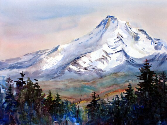 Mt. Hood 227 - signed print - Bonnie White - watercolor