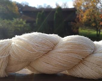 Natural Tunis Millspun Yarn, 288 yards, 4 oz, Pennsylvania-Grown