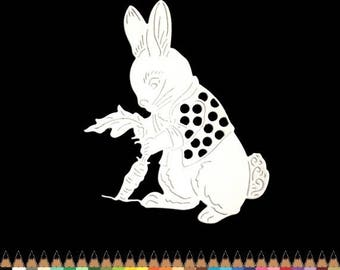 Cut scrapbooking scrap Bunny Easter animal cutout paper die cut creation