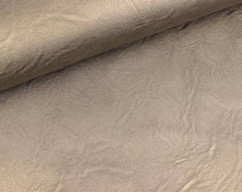 Space Leather taupe Uni (10.90 EUR/meter)