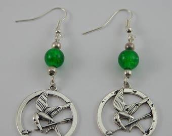 Hunger Games green earrings