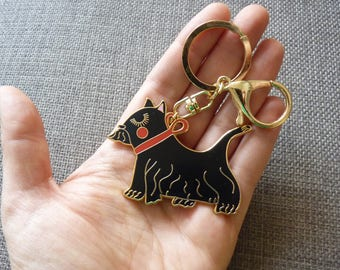 Enamel Scotty Dog Keyring