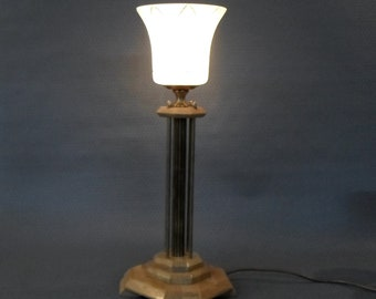 Handmade, Great Table Lamp, Art Deco Table Lamp, Lamp Base By Hand,