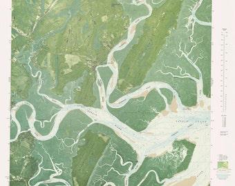 Shellman Bluff Map - 1979