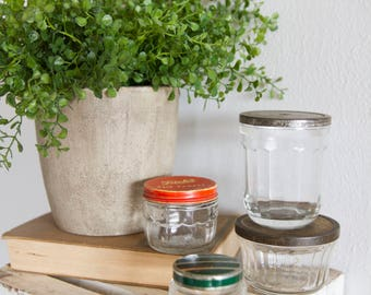 Vintage Glass Jars with Lids - SOLD SEPARATELY