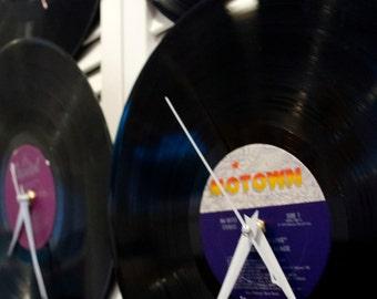 Motown Vinyl Record Clock
