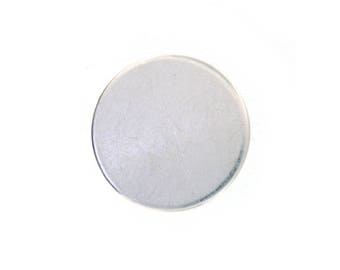 BEST PRICE Sale! 1.25 Inch 22 Gauge Sterling Silver Round Discs- Hand Stamping Supplies  1 1/4 inch Sterling Silver Disc-as low as 4.80 each
