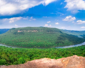 Landscape Photography Tennessee River Gorge Chattanooga Home Decor Mountain Wall Art Print Canvas 60x20 30x10, 15x5