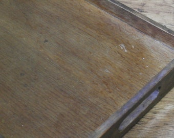 antique wood serving tray