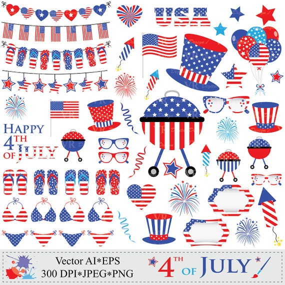 4th of July Clipart, Patriotic Clip Art, USA Clipart ...