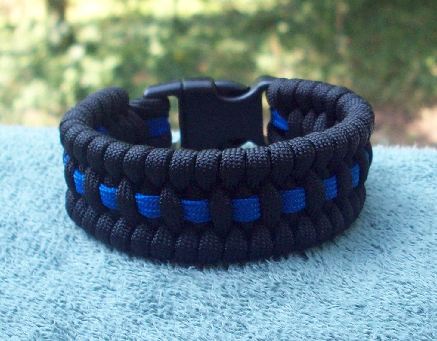 bracelets black item snap men drop from women shipping lives matter bracelet button blue charm in police line for thin lot adjustable leather