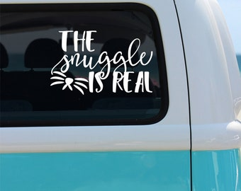 The Snuggle is Real - Cat Vinyl Window Decal - Car Sticker - Car Decal - Cat Decal - Car Decal - Whiskers Decal - Pet Decals - Kitty Decal