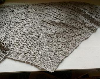 Knit Lace Shawl - Hedgerow Fog