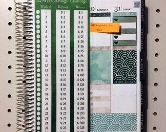 Laminated Bookmark/Divider - Savings Challenge Divider or Dashboard