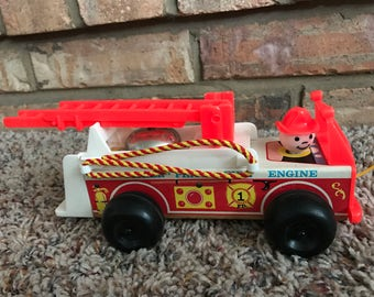 Fisher Price Fire Engine Pull Toy