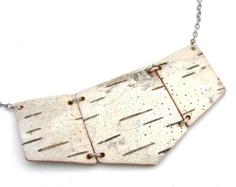 Birch bark necklace, Coterie