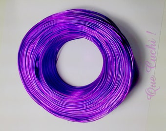 10 meters of 1 mm for crafting purple aluminum wire
