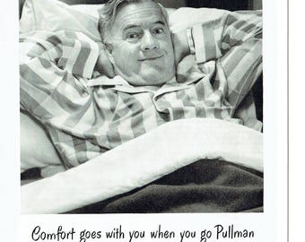 1949 Advertisement Pullman Company Comfort Trains Rail Railroad Travel Tourism Vacation Holiday America 40s 50s Agent Office Wall Art Decor