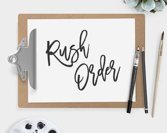 Rush Order Fee (1-2 business days)