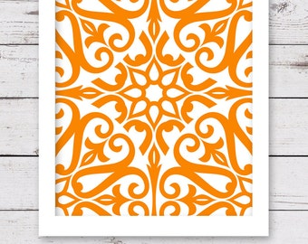 PRINTABLE Art, Orange Art, INSTANT DOWNLOAD, Printable Artwork, Orange Wall Art, Orange Artwork, Printable Wall Art, Art Print, Wall Decor