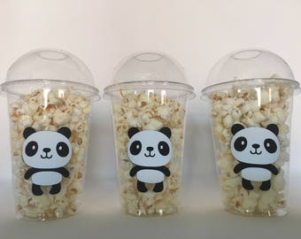Panda Party Popcorn Cups, Panda Birthday Party Cups, Panda Baby Shower