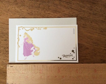 Princess Rapunzel small paper card