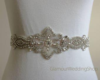 Wedding Belt Bridal Belt Sash Bridal Sash Belt Crystal Sash Rhinestone Belt Wedding Belt Sash Crystal Wedding Belt