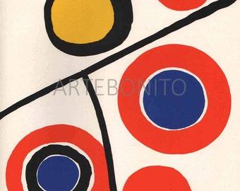 """Calder """" DM48201"""" Original Lithograph 1973"""