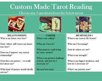 5 QUESTION READING (choose any 5 questions) from Cosmopolitan's tarot expert, via email/pdf