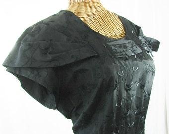 Taffeta Dress 50s Stateman Bert Swaybill Black Unworn Size 18.5