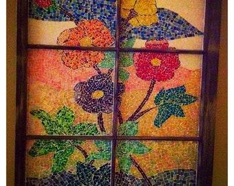 Custom mosaic glass
