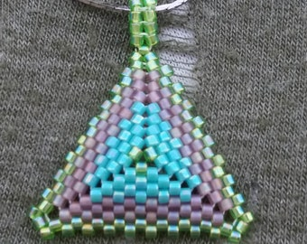 Triangle Peyote beaded necklace