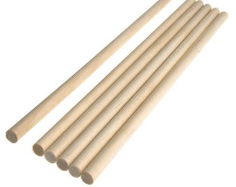 Wooden Craft Dowel Sticks, Natural, 11-3/4-Inch, 6-Piece
