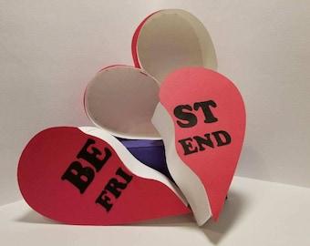 Best Friends - Couples Heart Box - SVG Pattern