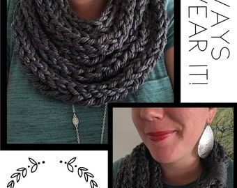 All Colors- Soft Finger Knit Infinity Scarf