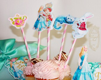 CUPCAKE TOPPERS Alice Through the Looking Glass