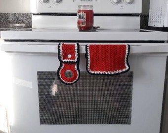 Crochet Towel Holder and Dish Cloth