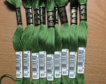 Lot of 5 Skeins DMC Floss # 937
