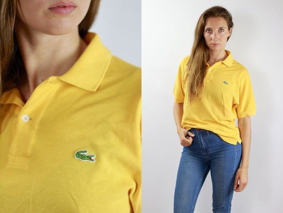 LACOSTE Poloshirt Yellow Lacoste Polo Shirt Lacoste Yellow Polo Shirt Lacoste Vintage Top Yellow Lacoste Top Yellow Lacoste Shirt Poloshirt
