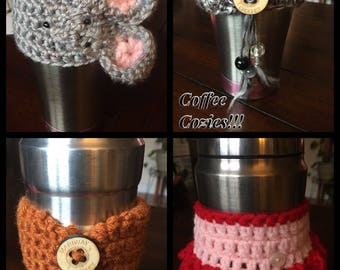 Handmade Crocheted Coffee Cozies