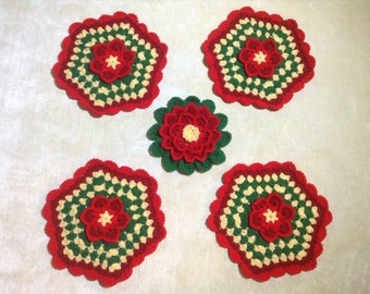 Christmas Placemats With Centerpiece
