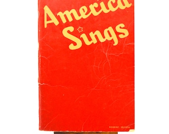 Vintage Song Book, America Sings, Robbins Music Corporation, Book of Sheet Music, 1940s