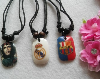 Adjustable Necklace. Barcelona, Real Madrid, Che Guevara.